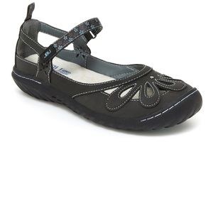Jambu wildflower encore Mary Janes in charcoal. 8